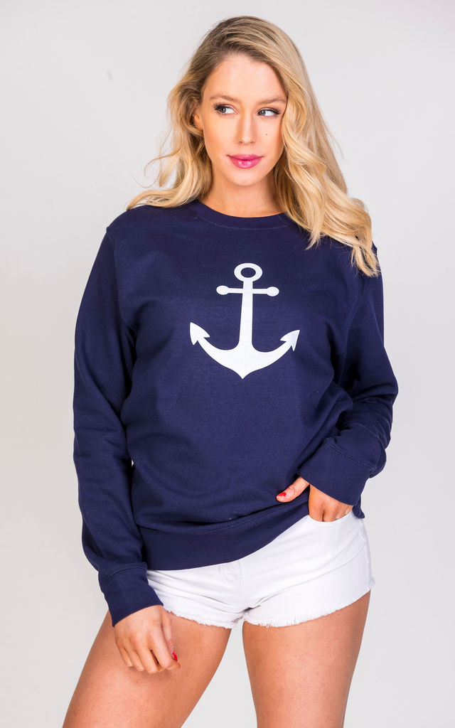 ANCHOR jumper in navy blue by GET IT GRL