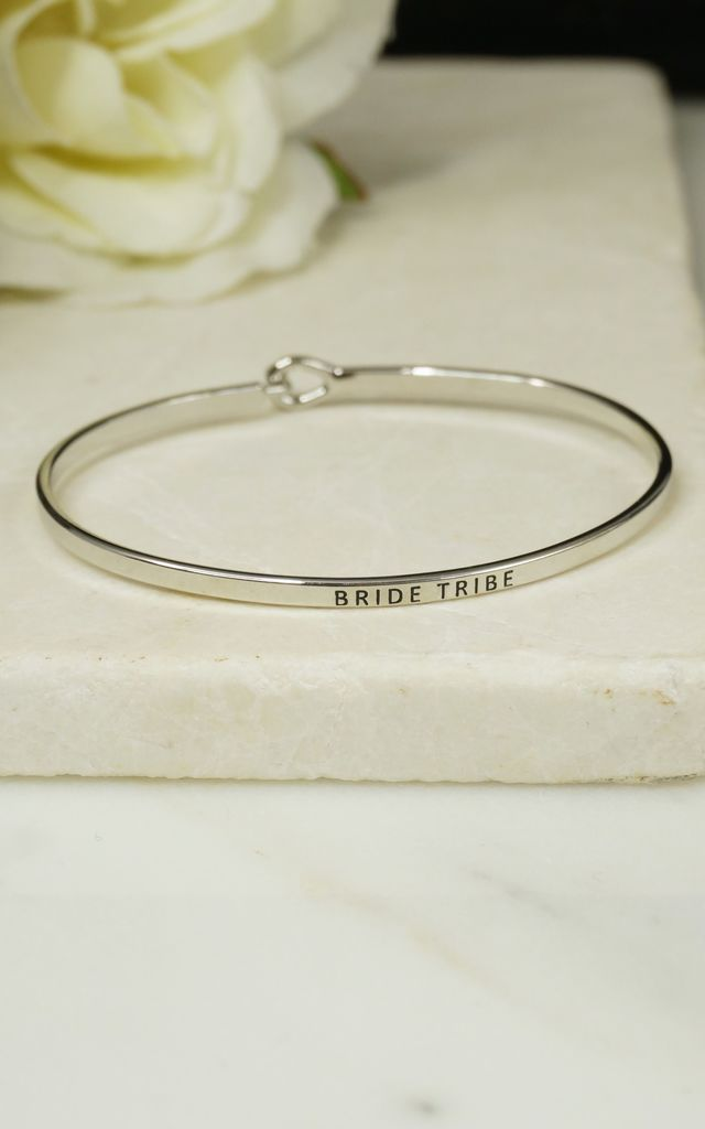 'BRIDE TRIBE' INSPIRATIONAL QUOTE BANGLE by EPITOME JEWELLERY