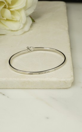 'BELIEVE' INSPIRATIONAL QUOTE BANGLE by EPITOME JEWELLERY