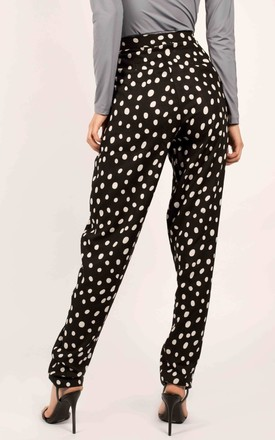 Black & White Polka Dot Cigarette Trousers by Ettie