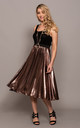 High Waist Skirt - Liquid Rose Gold - Dare 459 by DARE LABEL