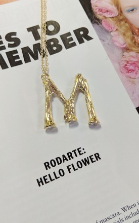 "'So, How Do You Spell Your Name?' ""M"" Initial Gold Necklace by Bottle Blonde Studio"
