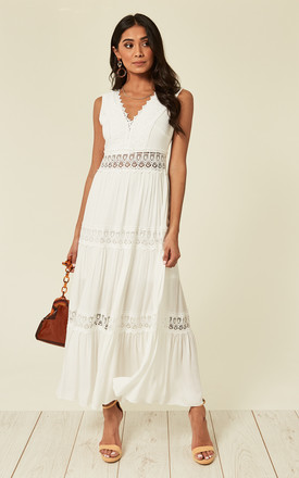 Jessica – Borderie Argalie White Maxi Dress by Blue Vanilla Product photo