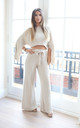 JOSIE Cream Knitted Loungewear by Giorgi London
