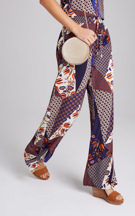 Iris Scarf-Print Trousers Co-ord by Girls On Film