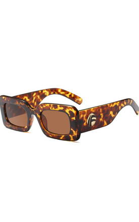 Tortoiseshell Sexy Retro Inspired Small Square Sunglasses by Urban Mist