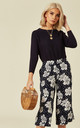 Sasha Hawaiian Floral Print Culottes in Navy And White by SUGARHILL BRIGHTON