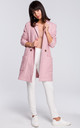 Powder Pink Long Double Breasted Patch Pockets Coat by MOE