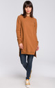 Caramel Long Sleeve Side Splits Oversize Jumper Sweatshirt by MOE