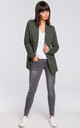 Military Green Long Sleeve Classic Casual Blazer by MOE