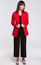 Red Long Sleeve Classic Casual Blazer by MOE
