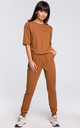 Caramel Short Sleeve V-Neck Jumpsuit by MOE