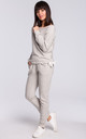 Light Grey Cotton Jogger Trousers by MOE