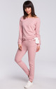 Powder Pink Cotton Jogger Trousers by MOE