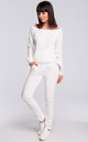 White Long Sleeve Jumper by MOE