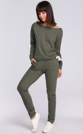 Khaki Long Sleeve Jumper by MOE