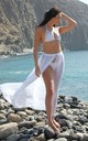 Mila Maxi Beach Skirt in White by Natasha Kieran