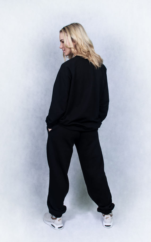 B+ Relaxed Fit JUMPER in Black by B+ Streetwear Clothing