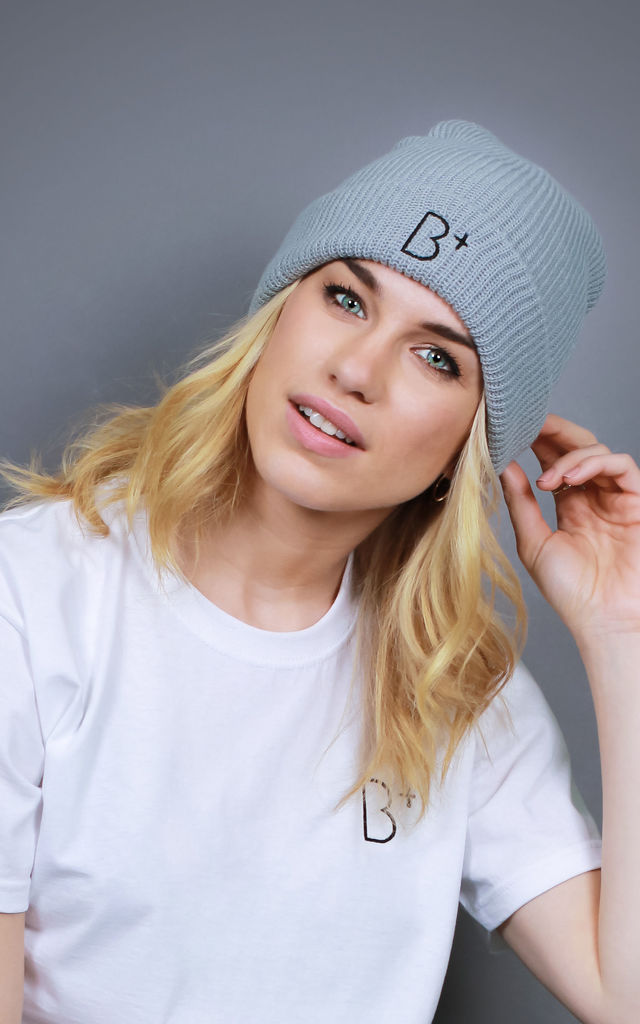 B+ GREY BEANIE Hat by B+ Streetwear Clothing