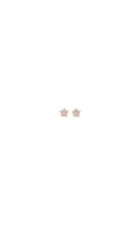 Crystal Star Shaped Gold Earring Studs by LAST TRUE ANGEL