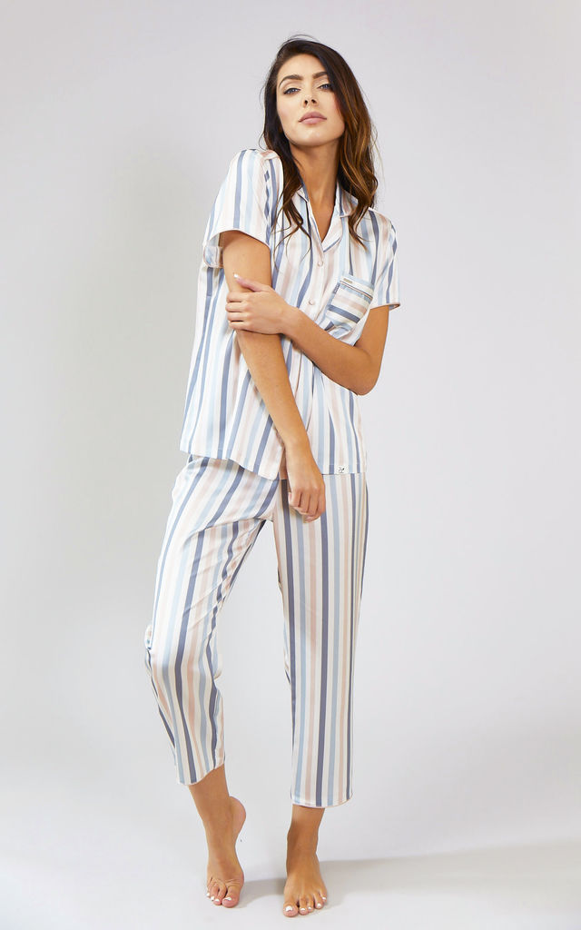 Mix and Match | Nightwear Pyjama Trouser Bottoms in Candy Multi Stripe (Trousers only) by Pretty You London