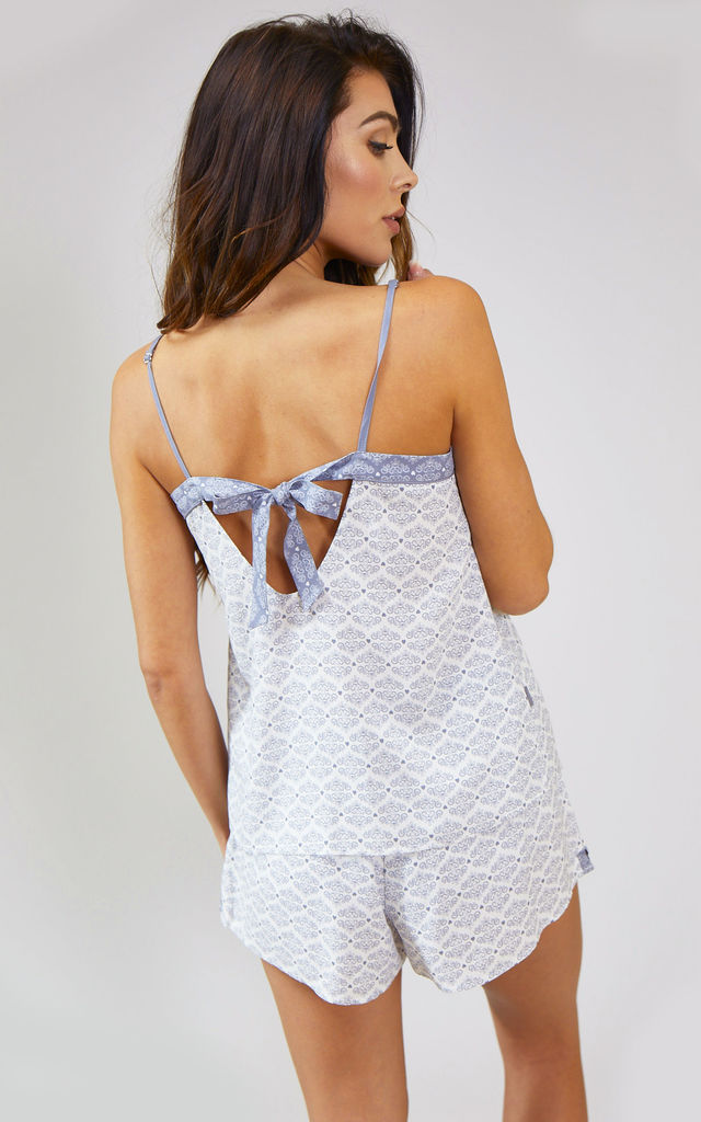 Romance Strappy Cami Pyjama Top in White (Cami only) by Pretty You London