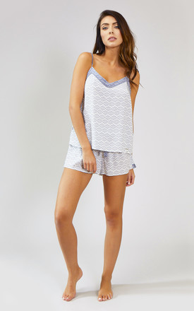 Romance Nightwear Pyjama Shorts in White (Shorts only) by Pretty You London