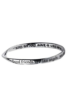 'Good Friends' Affirmation Silver Bracelet Bangle by Nautical and Nice Ltd