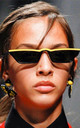 Yellow Small Square Stripe Sunglasses by Urban Mist