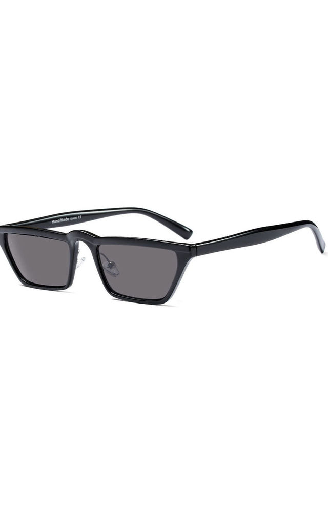 Black Small Square Stripe Sunglasses by Urban Mist