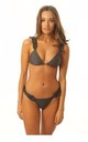 Grey Frill Bikini with tie back by Get Styled UK