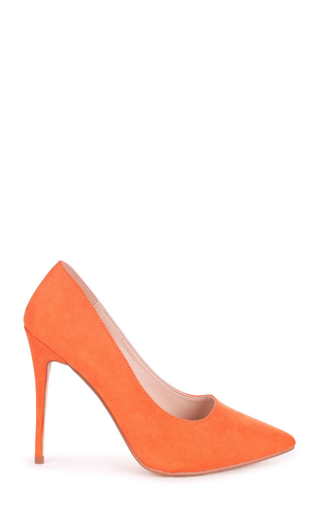 Aston Orange Suede Classic Pointed Court Heel by Linzi