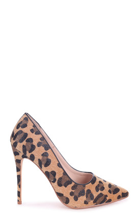Tally Brown Leopard Print Classic Pointed Court Heel by Linzi