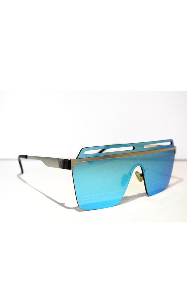 Neish Ice Square Framed Sunglasses in Blue by Neish Clothing