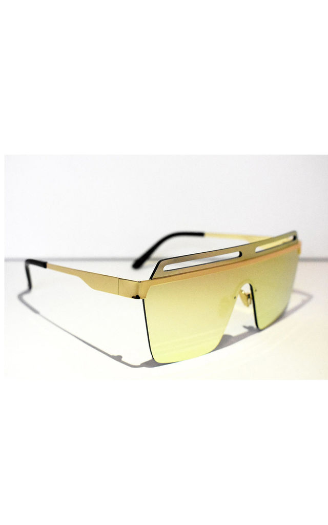 Neish Fire Square Framed Sunglasses in Gold by Neish Clothing