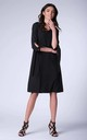 Black Bow on Sleeve Loose Dress by Bergamo
