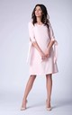Salmon Pink Bow on Sleeve Loose Dress by Bergamo