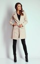 Beige Mid-Lenght Tied Coat by Bergamo