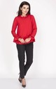 Red Long Sleeve Frill Blouse by Bergamo
