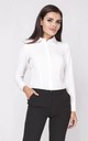 Long Sleeve Pleat Shirt in white by Bergamo