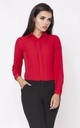 Red Long Sleeve Pleat Colar Shirt by Bergamo
