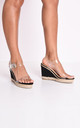 Perspex platform espadrille sandals black by LILY LULU FASHION