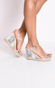 Snakeskin animal print perspex platform espadrille sandals by LILY LULU FASHION
