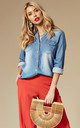 Blue Denim Shirt by VILA