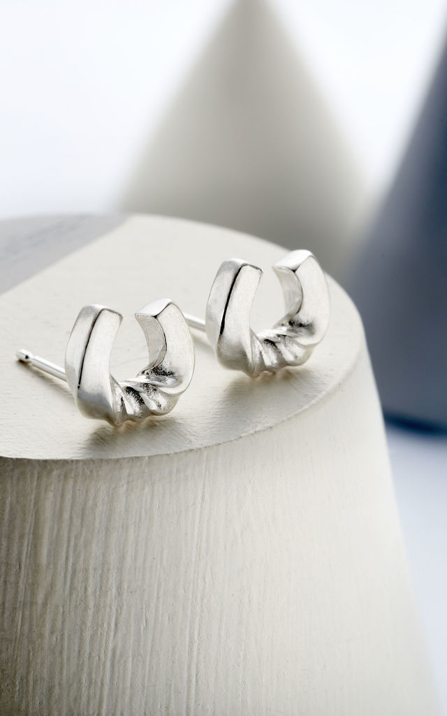 Lucky Horseshoe Sterling Silver Earrings by Oliver Twist Designs