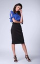 Black High-Waisted Pencil Skirt by Bergamo