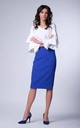Cobalt High-Waisted Pencil Skirt by Bergamo