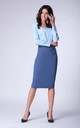 Denim High-Waisted Pencil Skirt by Bergamo