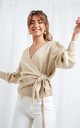 Beau Wrap Cardigan - Beige by Pretty Lavish