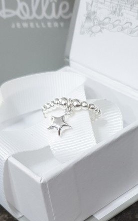 Sterling Silver Puffed Star Ring by Dollie Jewellery